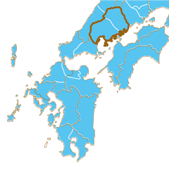 Hiroshima prefecture and feudal han of Aki and Bingo