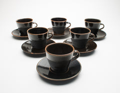 Leach Pottery Cups and Saucers