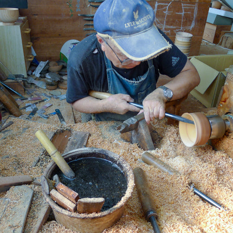 Wood-turning in Ishikawa Japan