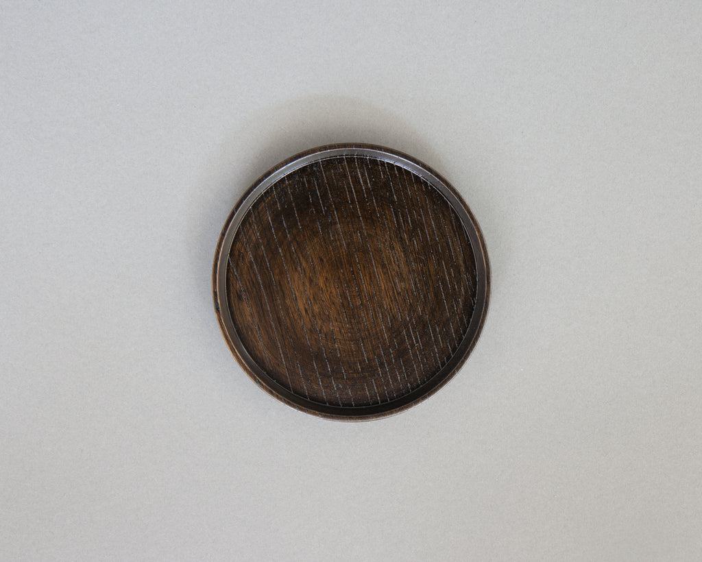 Dark Lacquered Bottle Coaster