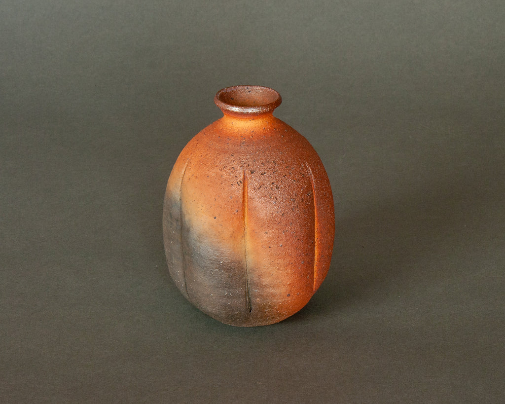 A beautiful organically shaped stem vase handmade in Japan