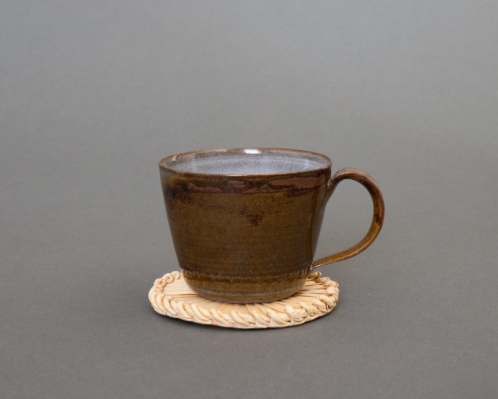 Sedge coaster handmade in Japan with Mug