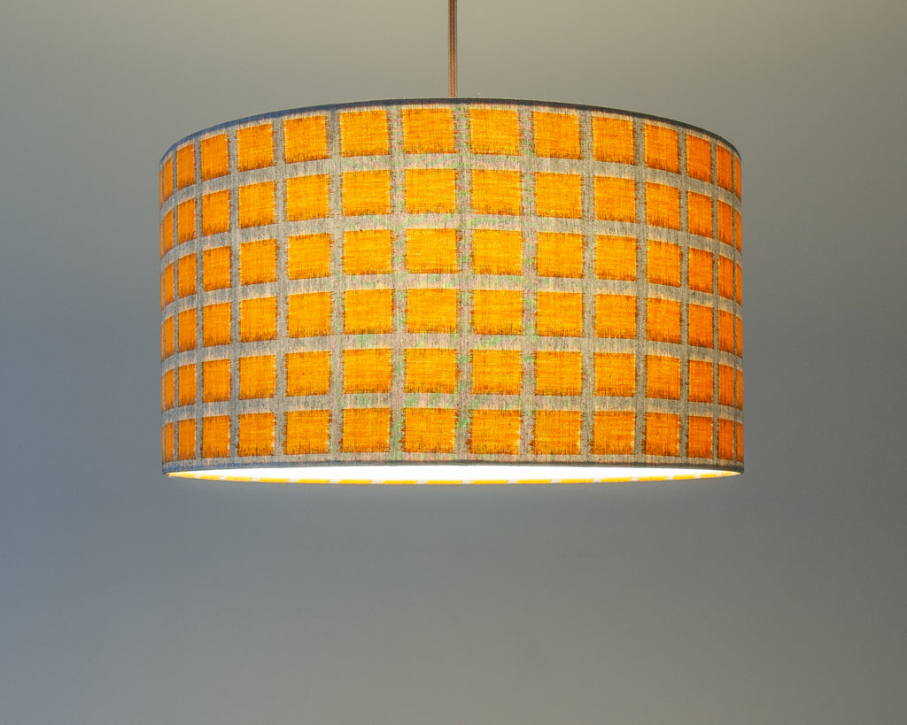 Yellow Squares Japanese Ceiling Pendant Light