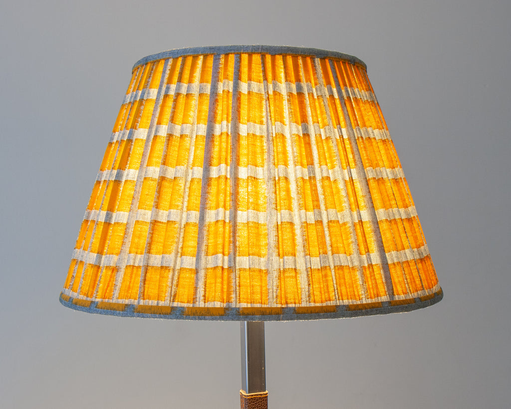 Yellow Japanese Cotton Soft Pleated Lampshades