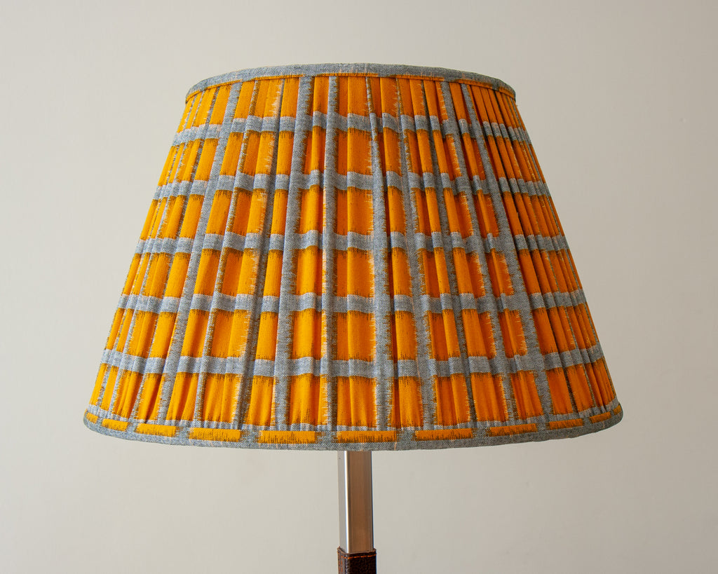 Sakata Yellow Squares Gathered Lampshades