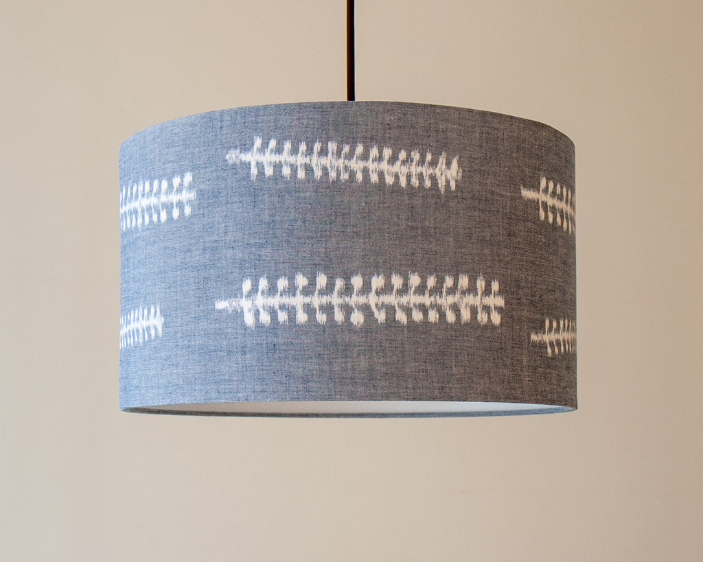 Light Blue Grey Japanese Cotton Lamp Shades