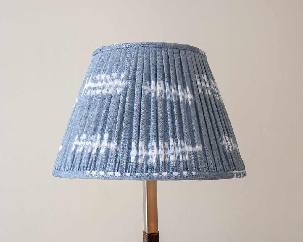 Soft Blue Grey Japanese Pleated Lamp Shades
