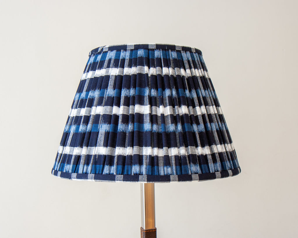 Blue and White H Pattern Soft Shades