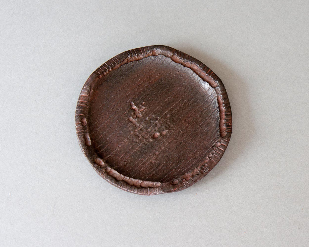 Handmade Japanese Beeswax Lacquer Bottle Coaster - Top