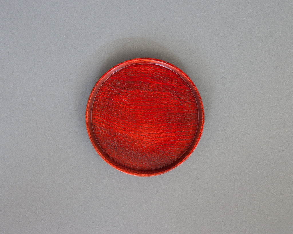 Red Lacquered Bottle Coaster