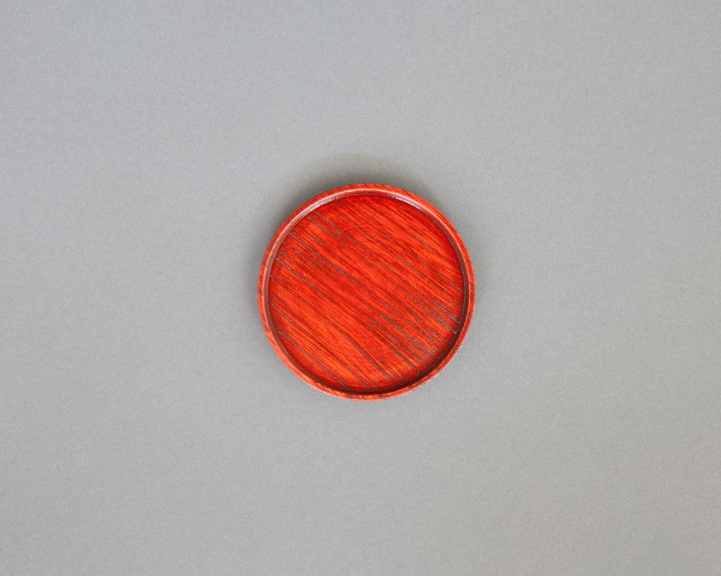 Red lacquer handmade coaster