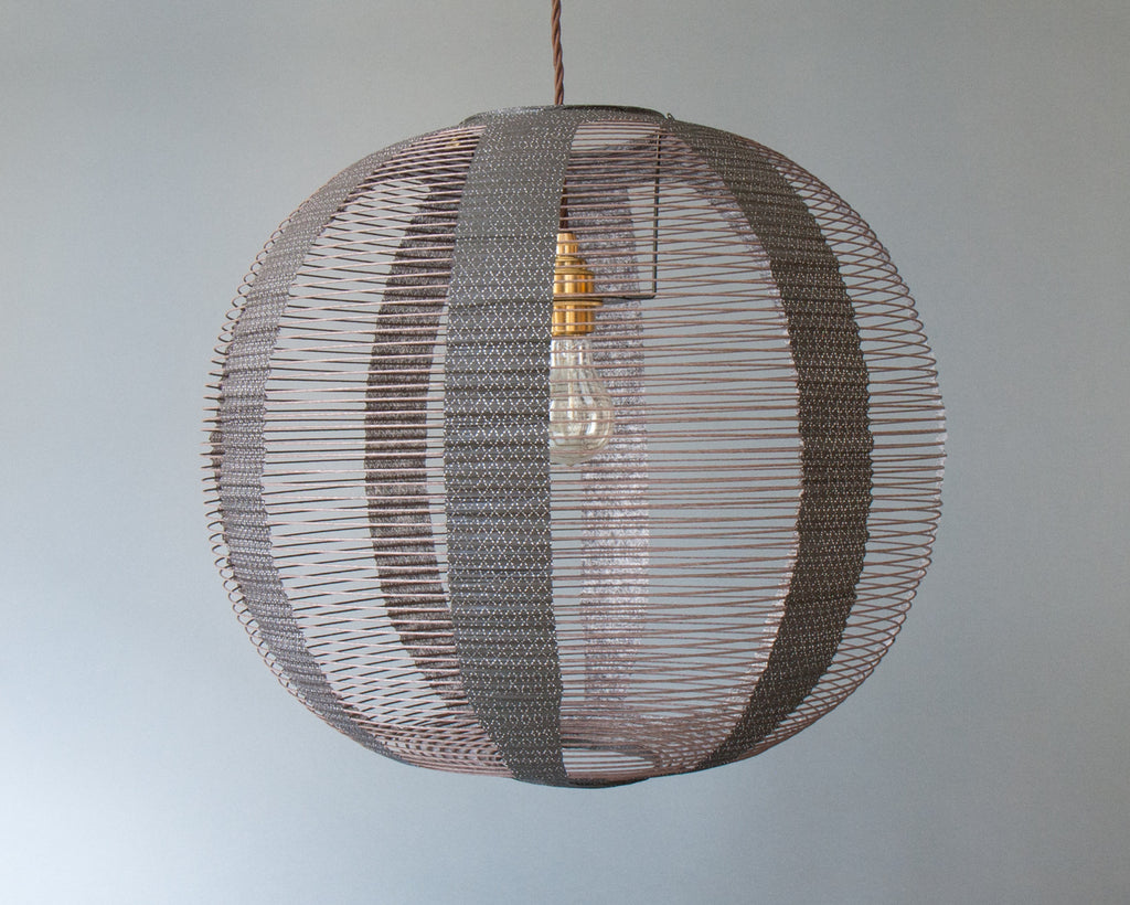 Japanese Paper Ceiling Light - Unlit