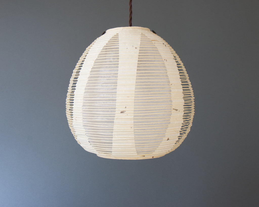 White egg-shaped double-layered Japanese paper lamp shaded Japanese paper lamp shade - straight