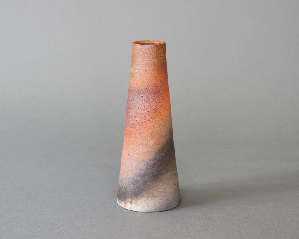 Tapered Vase, Wood-fired & Handmade in Japan - Straight