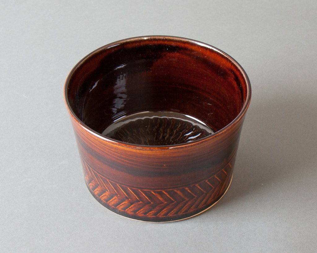 Large Brown Ohitsu - Bottom Top