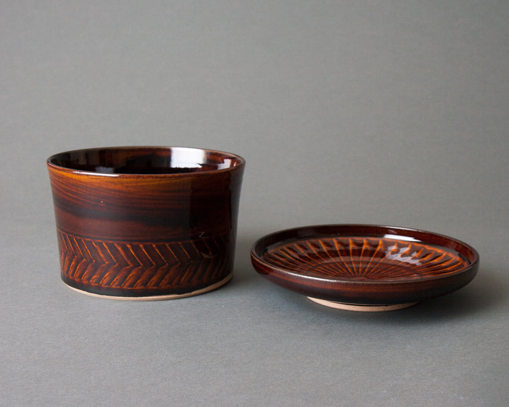 Large Brown Ohitsu – Open Brown Ohitsu - Open