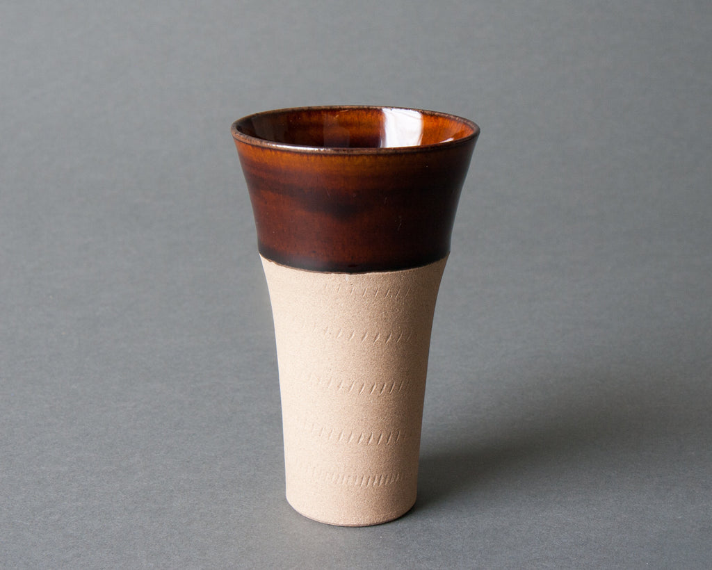 Keishugama Brown japanese ceramic Teacup