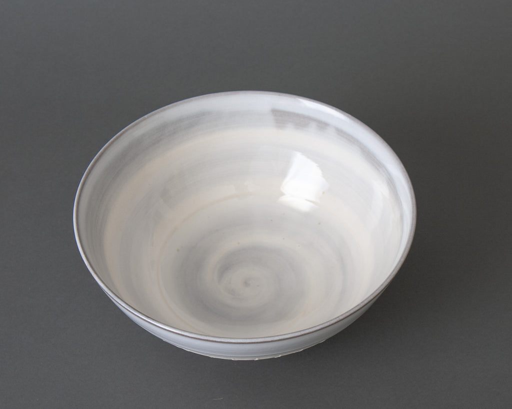 Japanese Slipware Salad Bowl - White Top