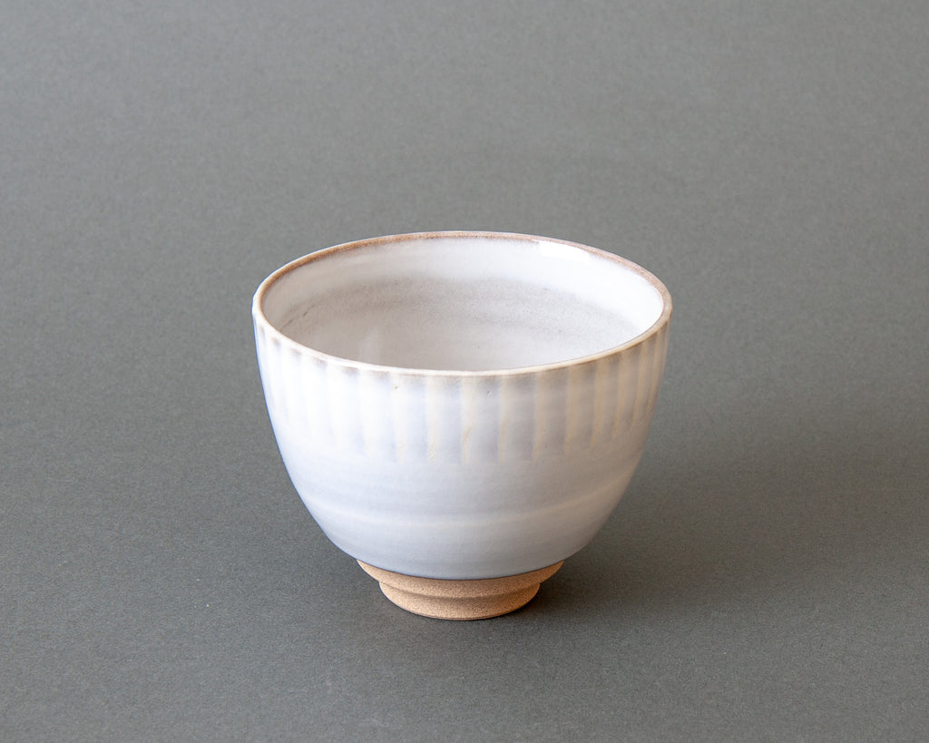 Modern Japanese Tea Bowl - White