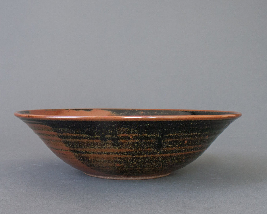 Tenmoku Handmade Fruit Bowl, Small - Side