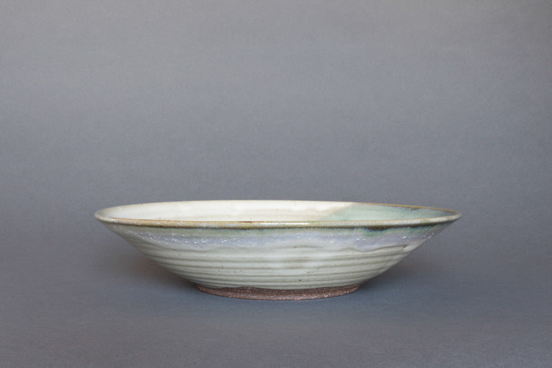 """Aonamako"" Japanese Ceramic Fruit or Salad Bowl - Straight"
