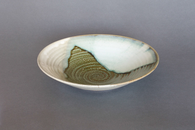 """Aonamako"" Japanese Ceramic Fruit or Salad Bowl -Side"