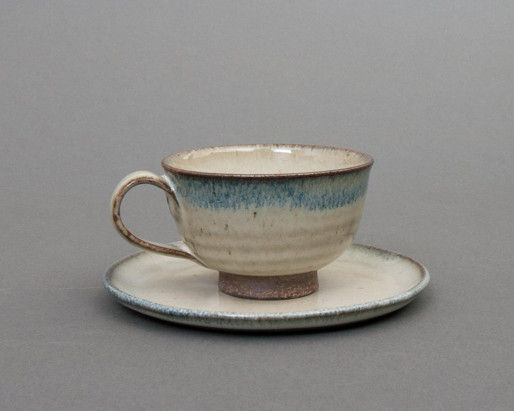 Aratsuchi Earthenware Cup & Saucer - Straight