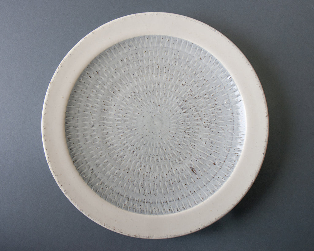 Hakuyu dinner plate - top