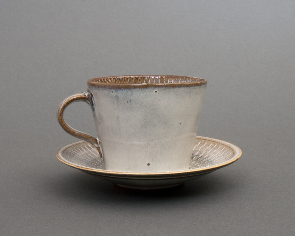 Yunomi Mug and Saucer Handmade in Japan - Straight