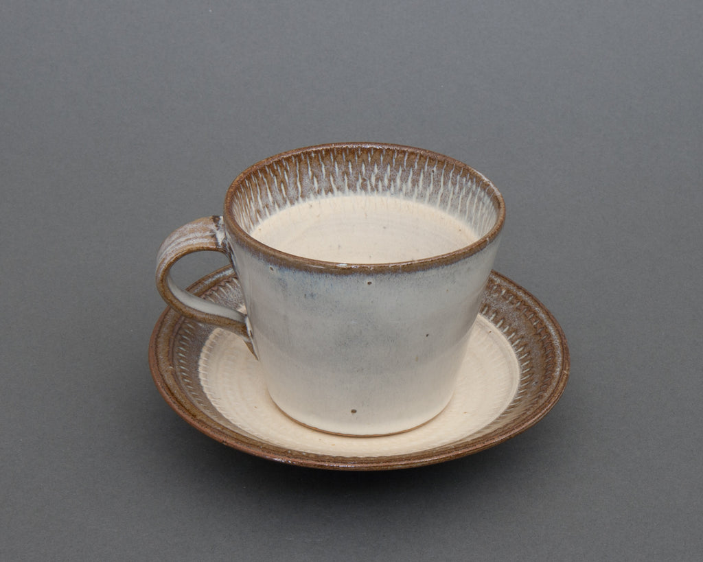 Mentori Saucer and Cup Handmade in Japan - Down