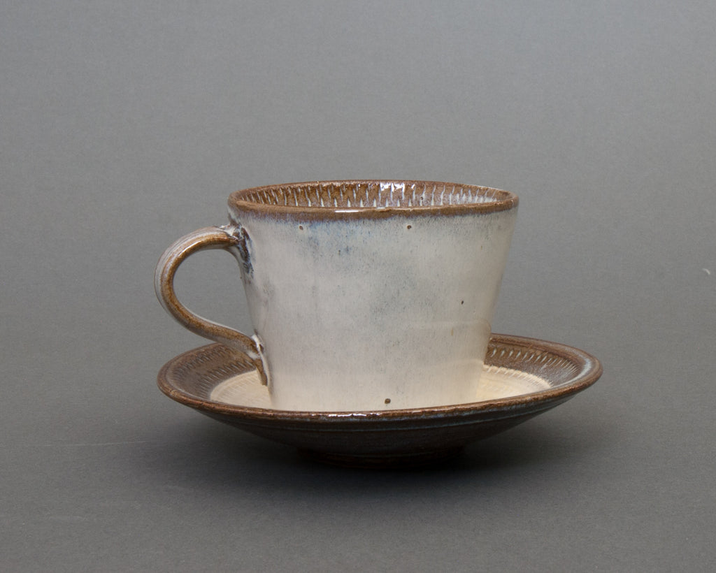 Mentori Saucer and Cup Handmade in Japan - Straight