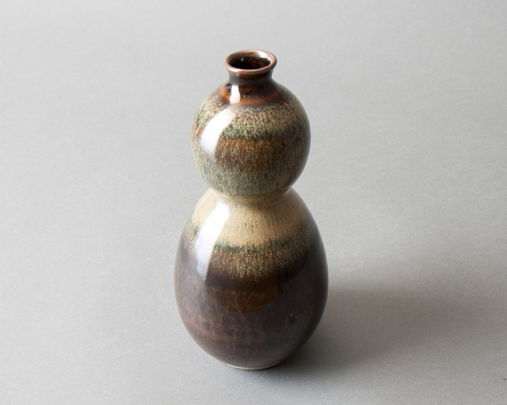 Hyotan Vase Handmade in Japan - Side