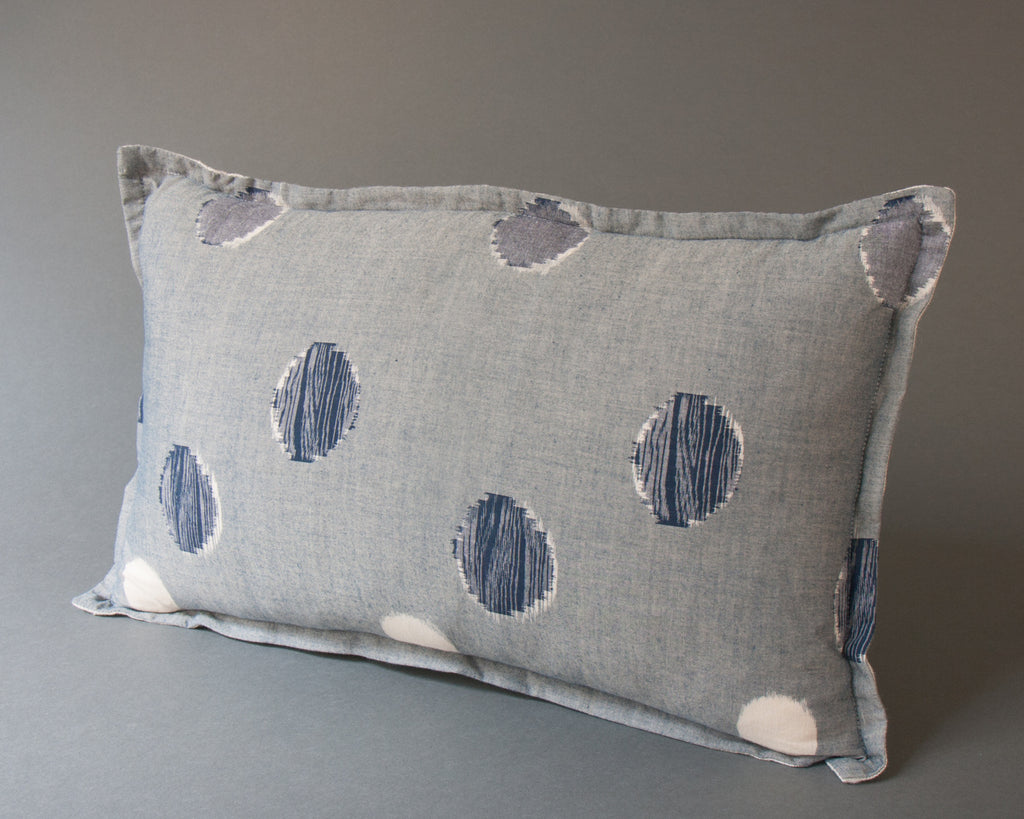Japanese Indigo Circles Cushion Main