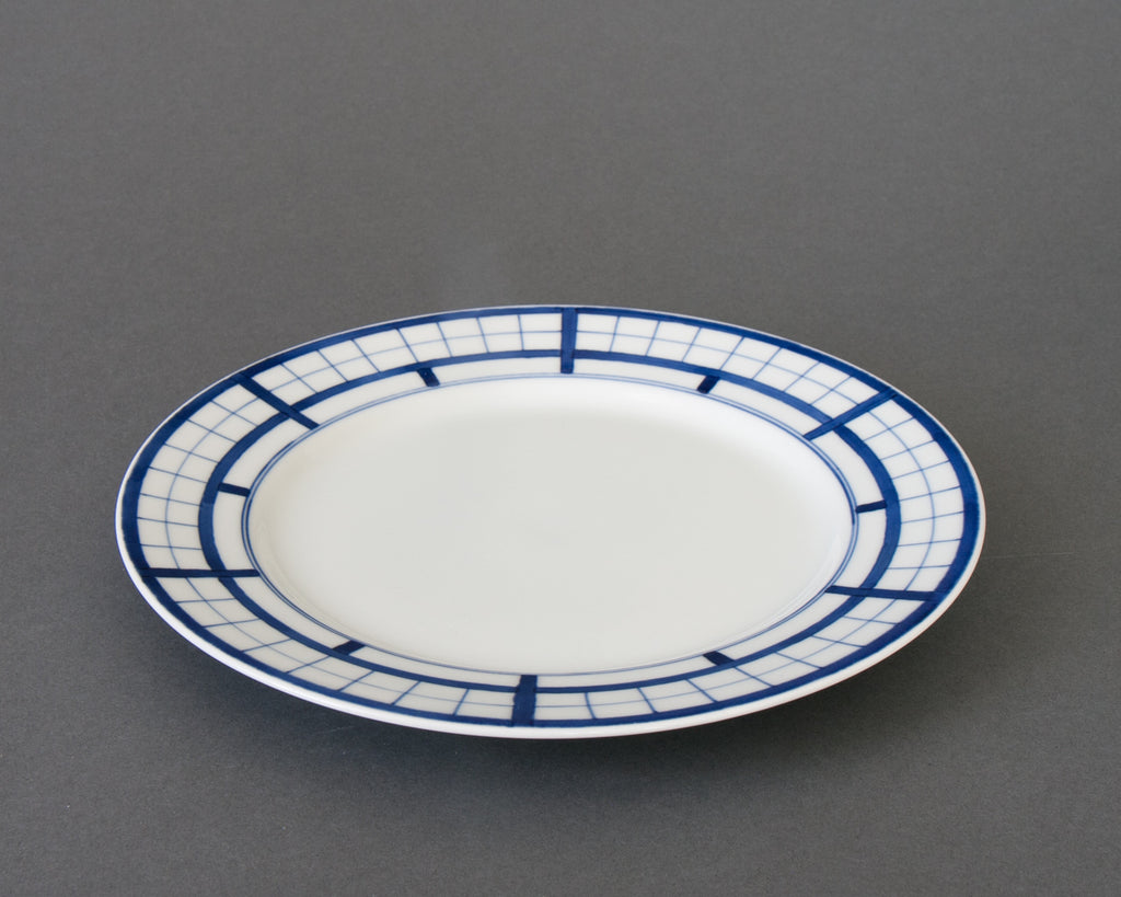 Shoji pattern hand-painted side plate - side
