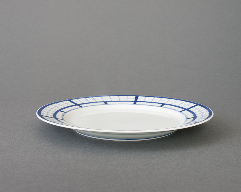 Shoji pattern hand-painted side plate - straight
