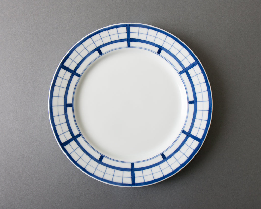Shoji pattern hand-painted side plate - top