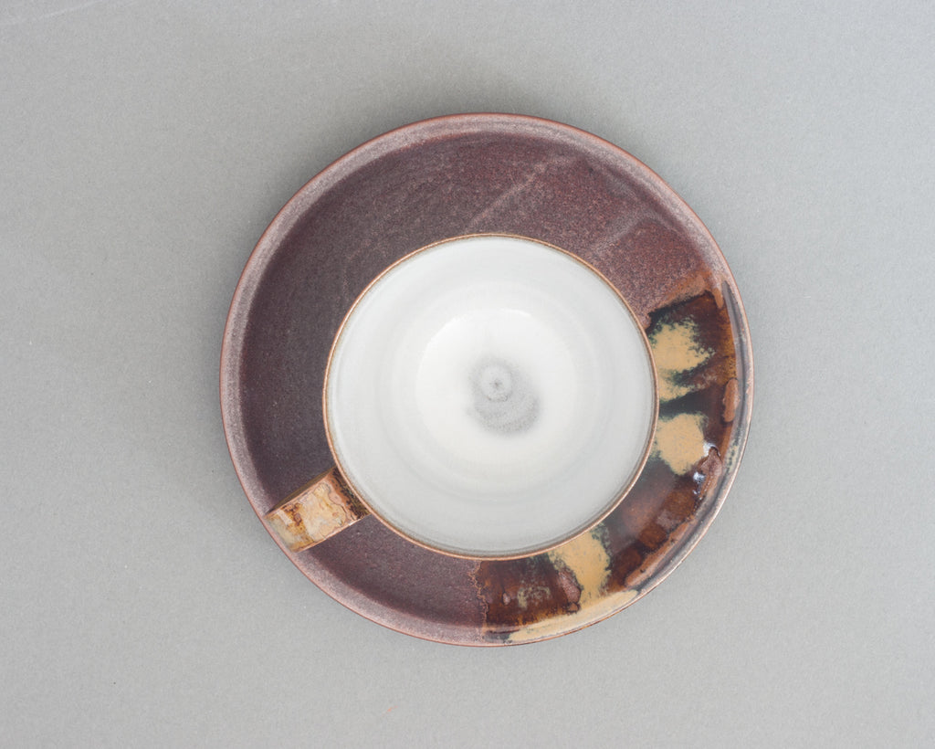 Takatori Saucer and Cup Handmade in Japan - Top