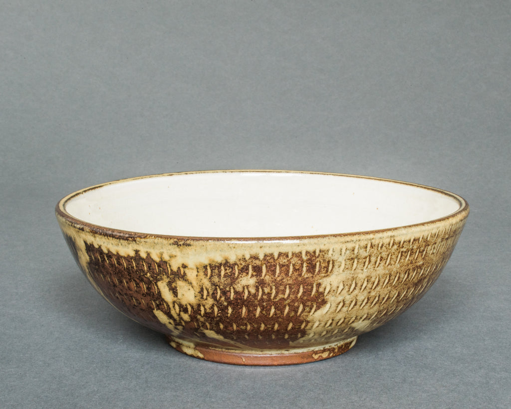 Wood-fired Japaese pottery Cereal Bowl - Side