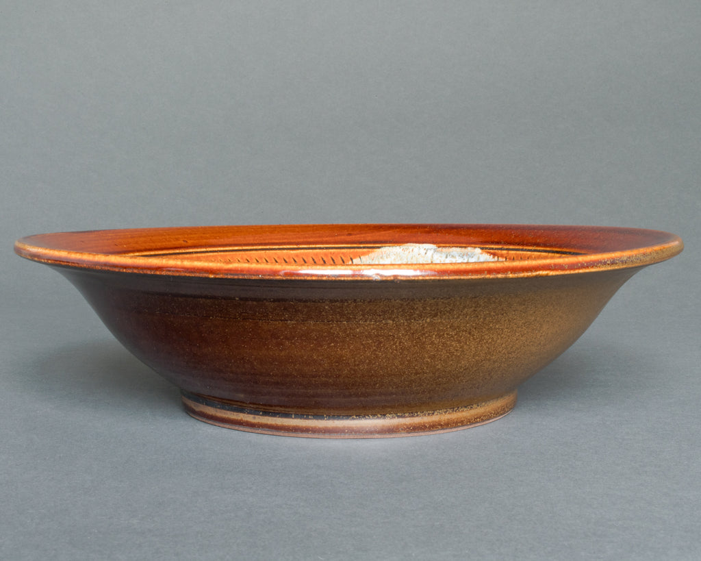 Japanese Earthenware, Ameyu Salad or Fruit Bowl - Straight
