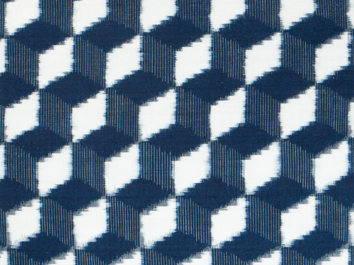 Diamonds Japanese Indigo Cushion Detail