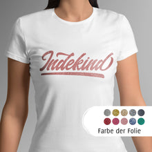 Laden Sie das Bild in den Galerie-Viewer, T-Shirt Damen weiß (organic) Simple Logo Glitzer