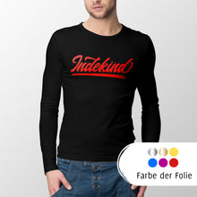 Laden Sie das Bild in den Galerie-Viewer, Longsleeve Herren schwarz Simple Logo bunt