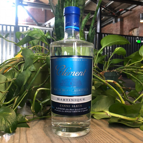 Clement Canne Bleue Rhum Blanc Agricole Martinique