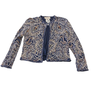 Primary Photo - BRAND: ADRIANNA PAPELL STYLE: JACKET OUTDOOR COLOR: NAVY SIZE: S OTHER INFO: AS IS-MISSING BEADS SKU: 297-29790-659