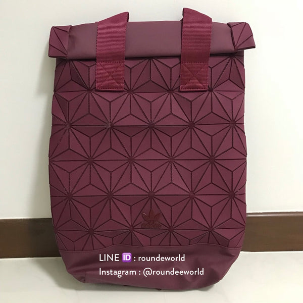 Adidas 3D Roll Top Backpack - Burgundy - Roundeworld