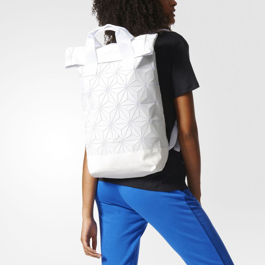 ... Adidas 3D Roll Top Backpack - White - Roundeworld 90d11babab684