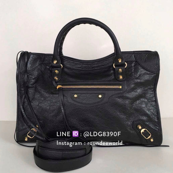 Balenciaga Classic Gold City - Black - Roundeworld