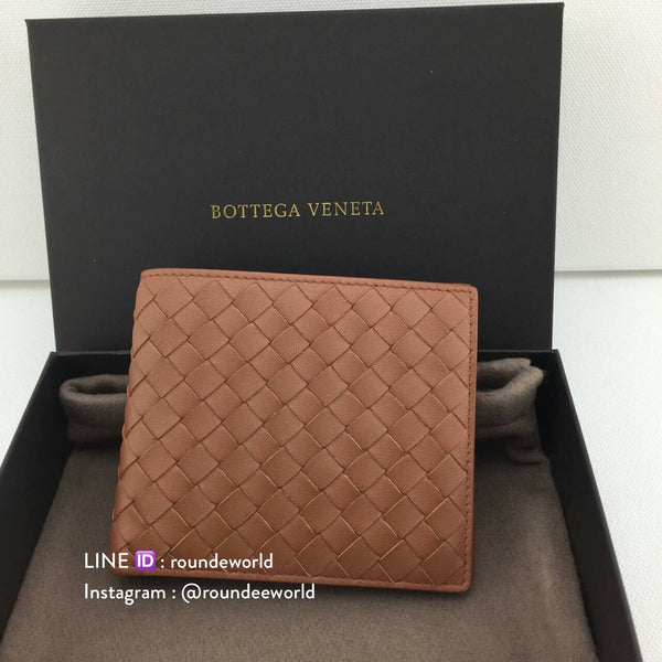 Bottega Veneta Intrecciato VN Bi-Fold Wallet - Light Brown - Roundeworld