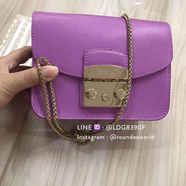 Furla Metropolis Mini Crossbody - Purple - Roundeworld