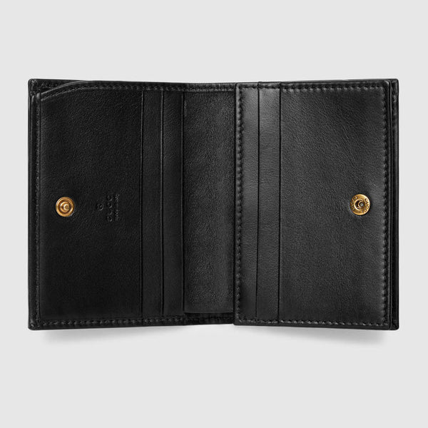 Gucci GG Marmont Card Case Wallet - Black - Roundeworld